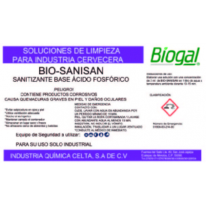 SANITIZANTE BIO-SANISAN  250 ml BIOGAL